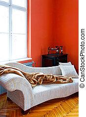 Orange corner - Orange living room corner with retro sofa
