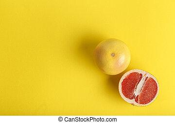 orange, coupure, sicilien