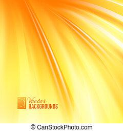 orange, couverture, résumé, lines., lisser