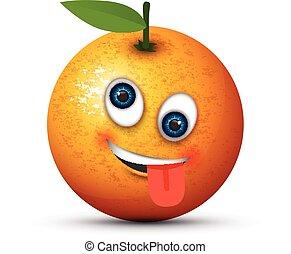 orange crazy emoji