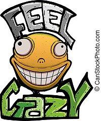 Orange crazy smile