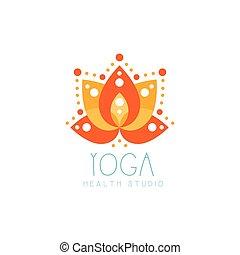 Orange creative yoga lotus logo