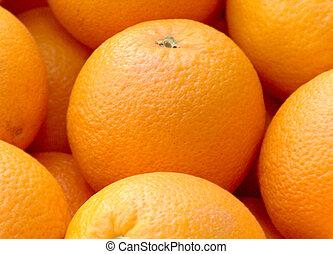 orange cubed 4 - fresh orange from a citrus tree