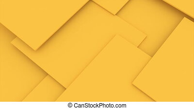 Orange cubes. Abstract 3d rendering of rotating vivid shape. Cgi loop animation. Modern colorful background. Seamless motion design for poster, cover, branding, banner, placard.