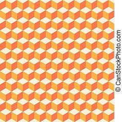 orange, cubes, seamless, texture