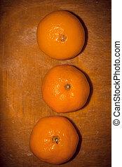 orange, découpage, retro, planche