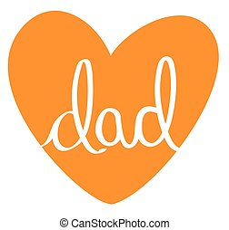 Orange Dad Heart