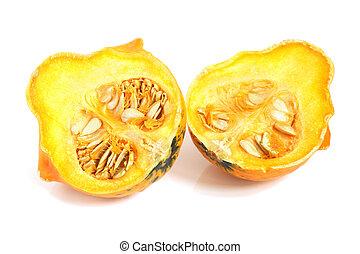 Orange decorative pumpkin
