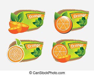 orange design icons
