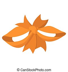 orange, dessin animé, ruban
