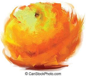 orange, dessin