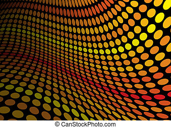 Orange doted abstract background