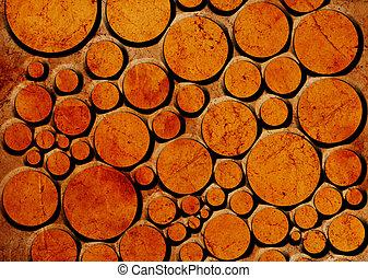 orange dots on grunge background