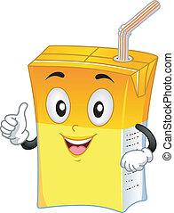 Orange Drink Mascot