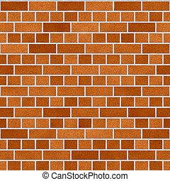 Orange Dutch Clay Brick Wall Seamless Texture