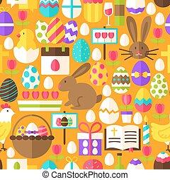 Orange Easter Seamless Pattern