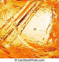 orange, eau, éclaboussure, fond