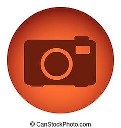 orange emblem camera icon