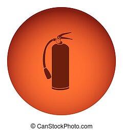 orange emblem extinguisher icon