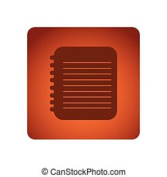 orange emblem notebook paper icon