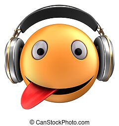 orange, emoticon, 3d, sourire