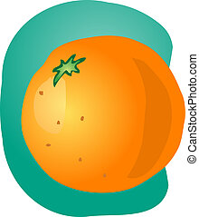 orange, entier, illustration