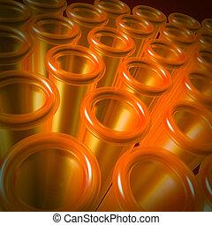 orange, eprouvettes