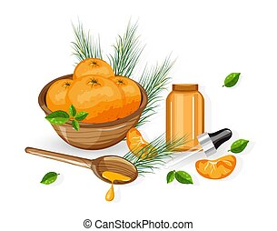 Orange essential oil made from fruit