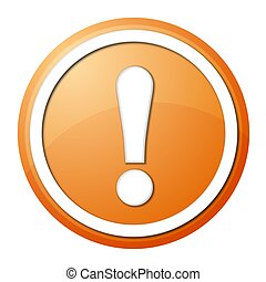 orange exclamation point button