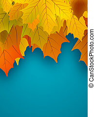 Orange fall maple foliage. EPS 8