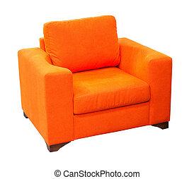 orange, fauteuil