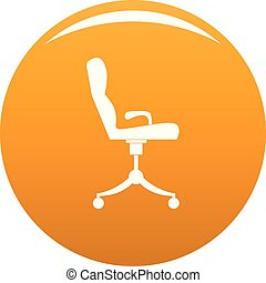 orange, fauteuil, vecteur, icône
