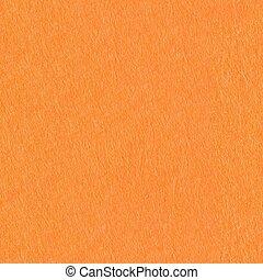 Orange felt background on macro. Seamless square texture, tile ready.