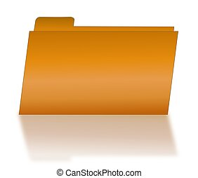 Orange File Folder with Shadow