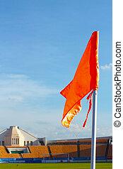 Orange flag football field