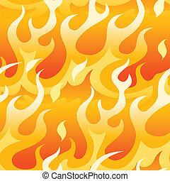 orange, flames., clair