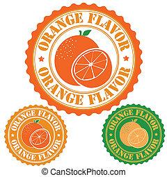 Orange flavor stamp