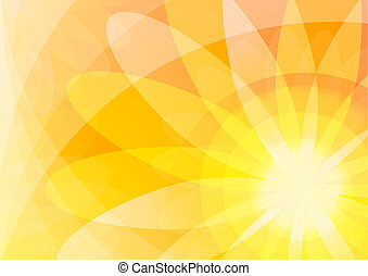 orange, floral, résumé, papier peint, fond