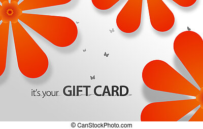 Orange Flower Giftcard - High resolution gift card graphic...