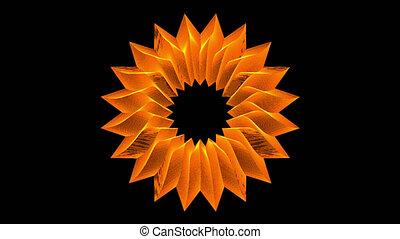 Orange Flower With Alpha Matte, Loop