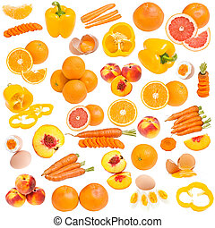 Orange food collection