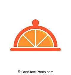 Orange food logo template vector icon design