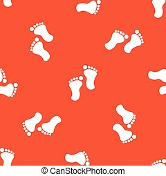 Orange footprint pattern