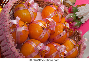 orange for gifts