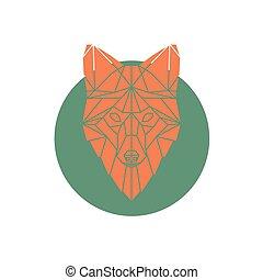 Orange fox head