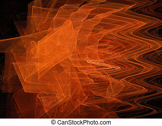 Orange fractal - A swirling fractal background