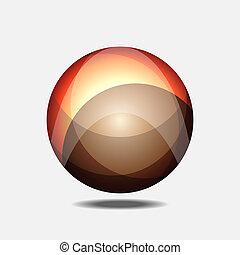 Orange fractal building a globe