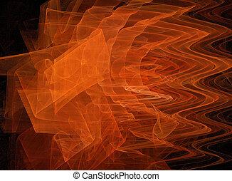 orange, fractal