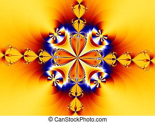 Orange Fractal - Digital created abstract fraclal background