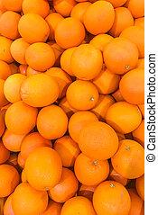 orange, frais, marché